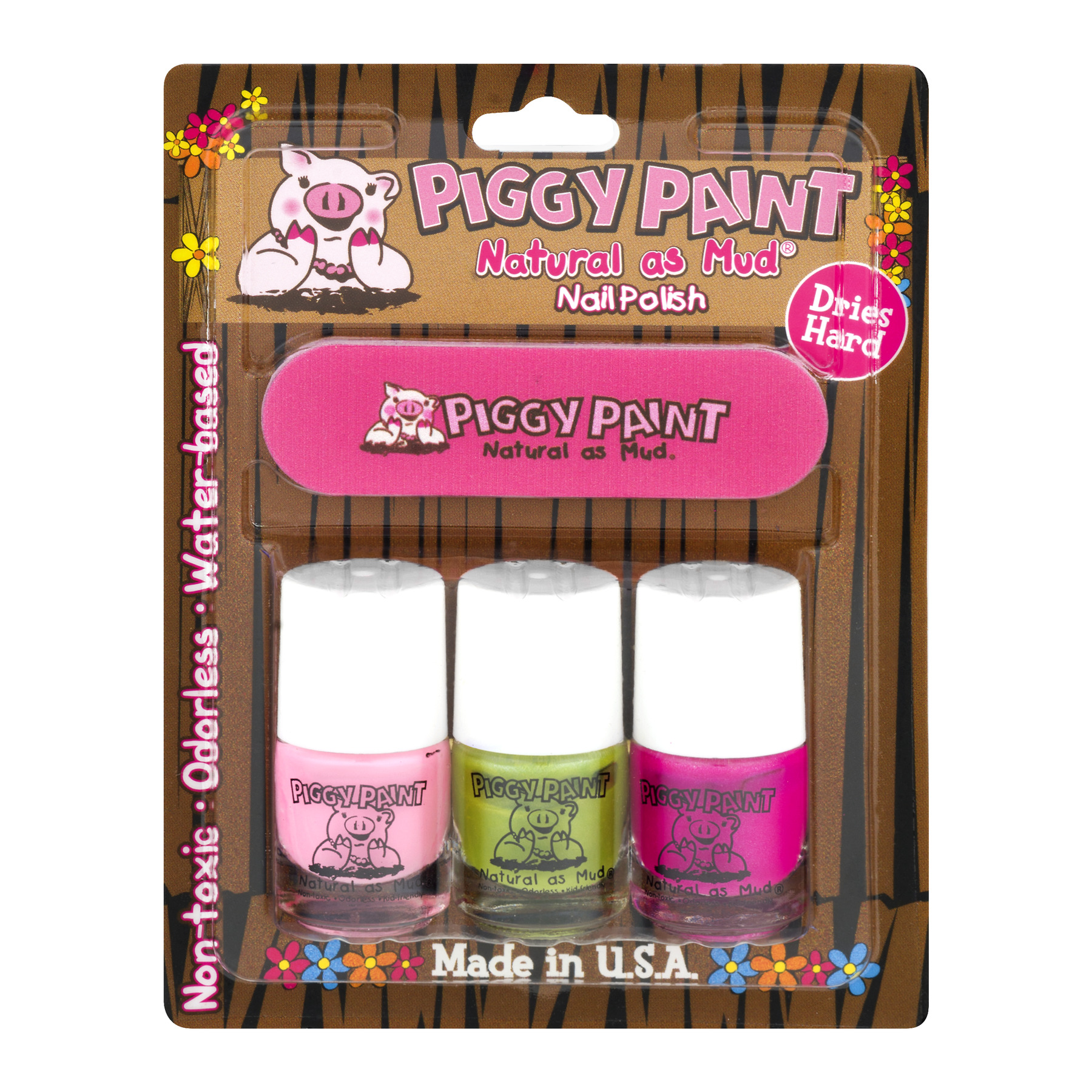 Piggy Paint Natural As Mud Nail Polish - 4 PC, 4.0 PIECE(S)