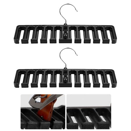 2 Pc Belt Tie Hanger Rack Organizer Rotating Holder Closet Hook Ties