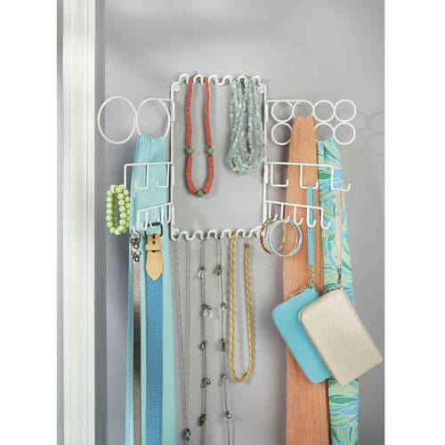 InterDesign Classico Hanging Fashion Jewelry and accessories Organizer, Wall Mount