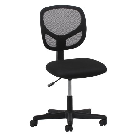 essentials by ofm swivel mesh armless task chair black