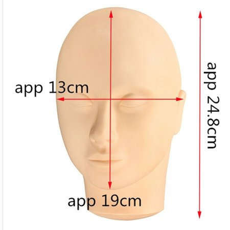 Mannequin Flat Practice Make Up Head Eye Lashes Eyelash Extension+Silicone Pad - image 1 of 5