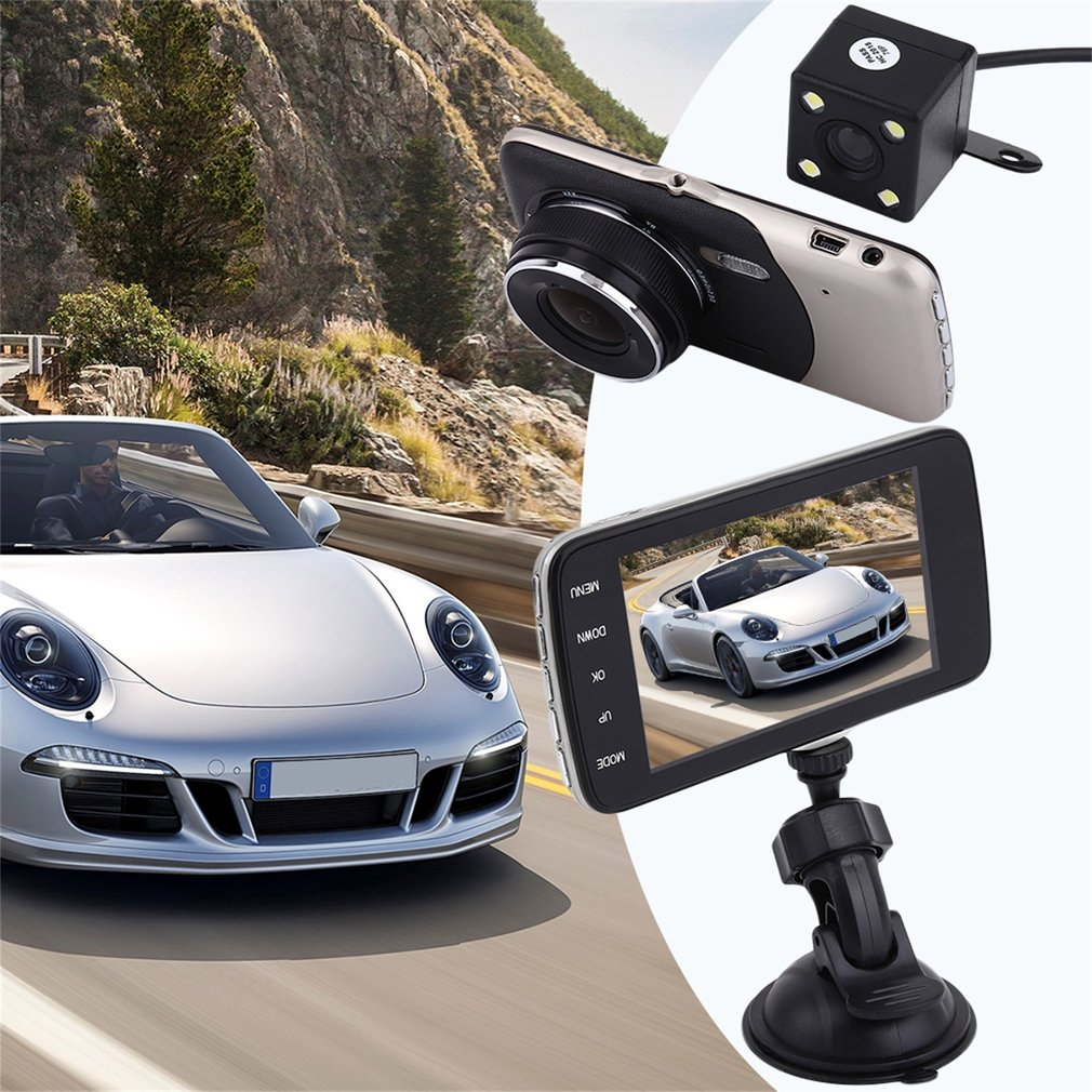 Black & gray Professional Full HD 1080P Car DVR Camera Recorder Dual Lens GPS Logger