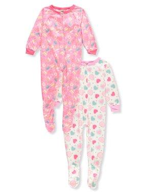 828fee026 Toddler Girls One-piece Pajamas - Walmart.com
