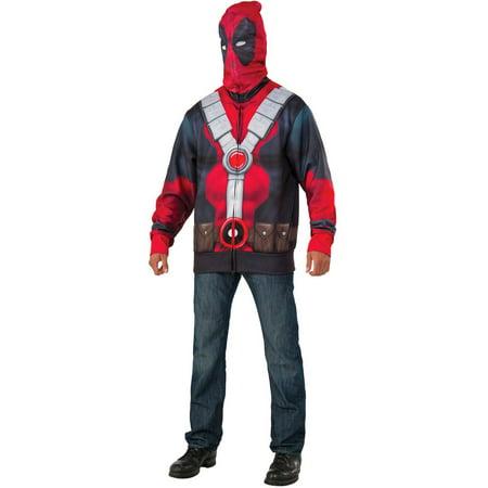 Deadpool Adult Hoodie Men's Adult Halloween Costume - Walmart.com
