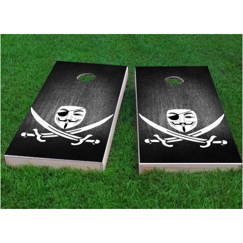 Custom Cornhole Boards Anonymous Piracy Cornhole Game (Set of 2) by Custom Cornhole Boards