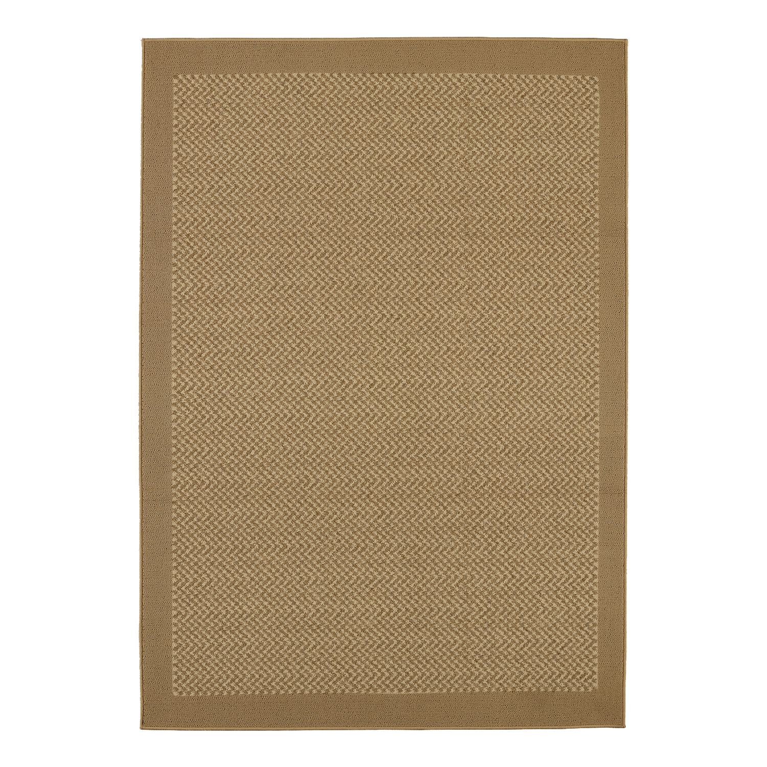 Mainstays Indoor/Outdoor Tufted Area Rug, Khaki and Tan