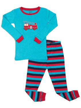 Leveret Fire Truck 2 Piece Pajama Set 100% Cotton 6 Years