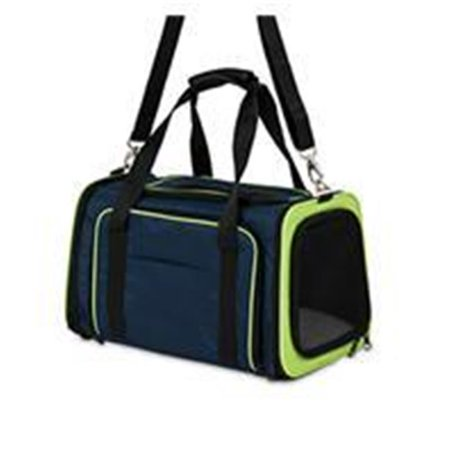 Petmate Inc-Carriers-See & Extend Pet Carrier- Navy 18 Inch