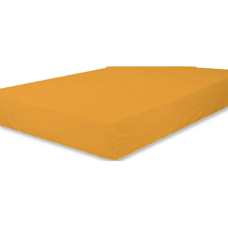 The Great American Store 1800 Series Microfiber Solid 1PC Fitted Sheet (Queen, Gold)- Extra Deep Pocket - Fade and Wrinkle Resistant - Hypoallergenic