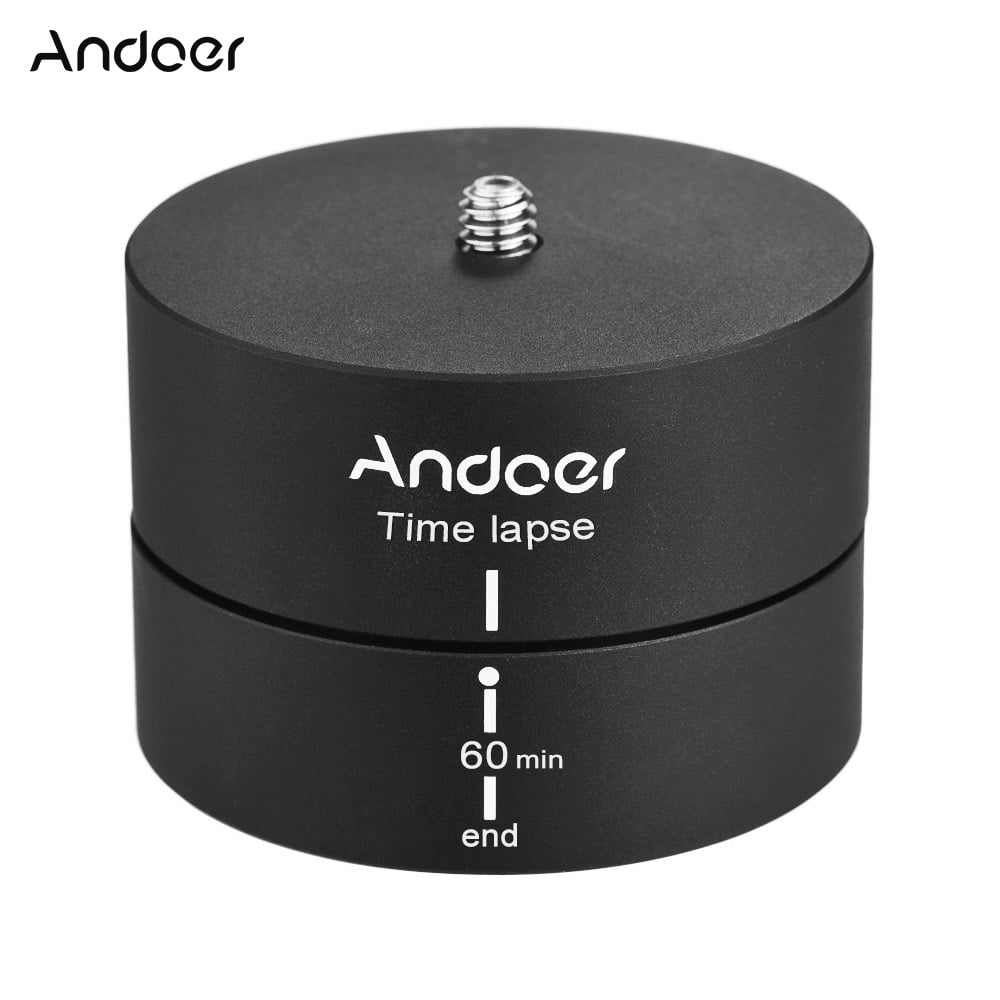 360 Rotating Panning Time Lapse Stabilizer Tripod Adapter for DSLR Camera