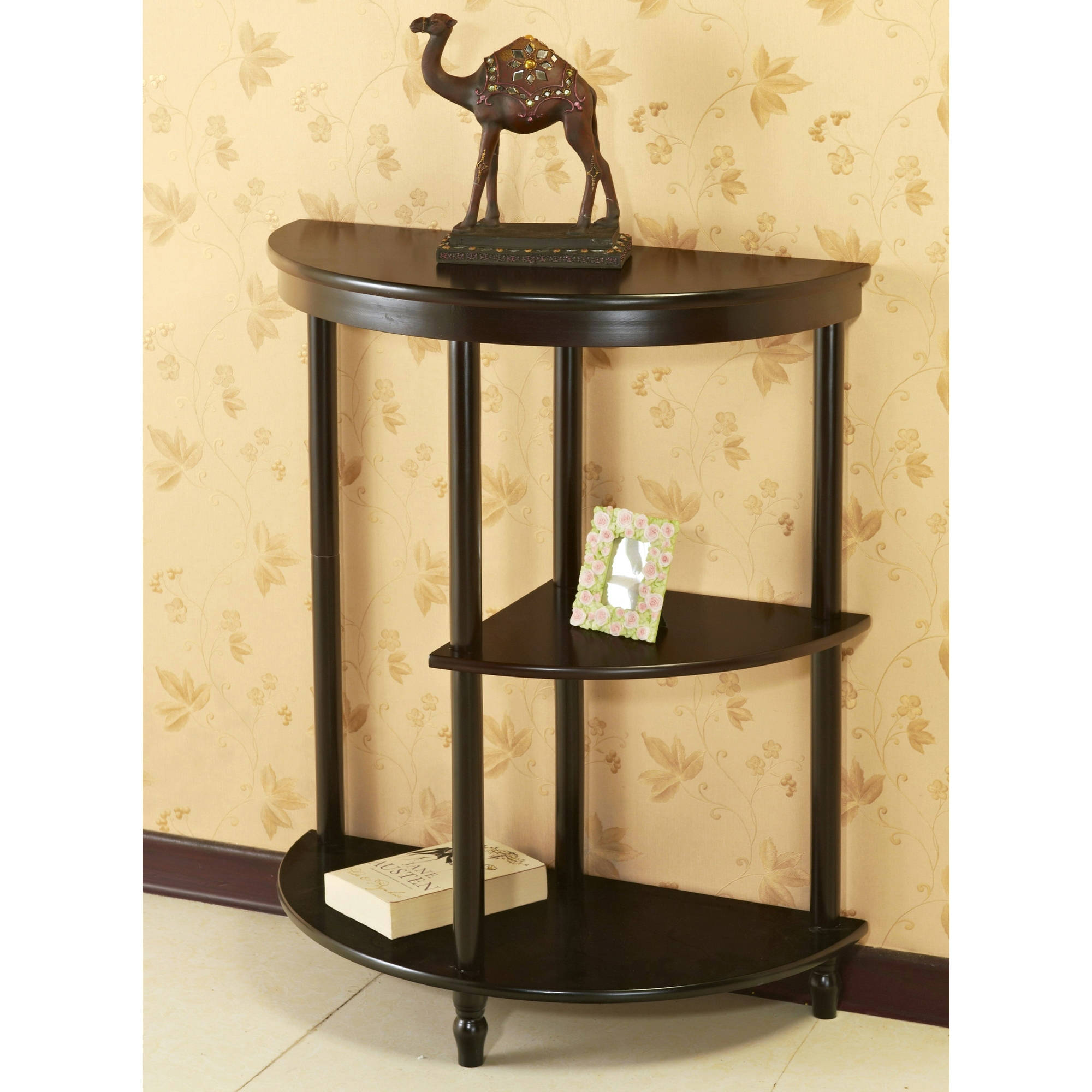 Winsome Wood Concord Half Moon Console Table W/ Drawer, Walnut   Walmart.com