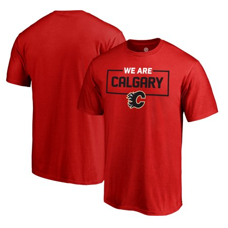 Calgary Flames Fanatics Branded Iconic Collection We Are T-Shirt - Red