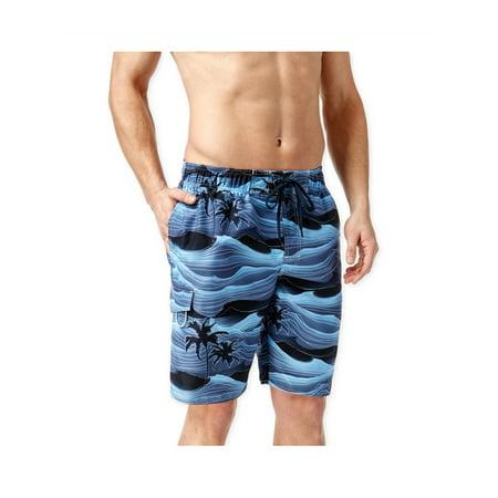 Newport Blue Mens Stormy Palms Swim Bottom Board Shorts blue S - image 1 de 1