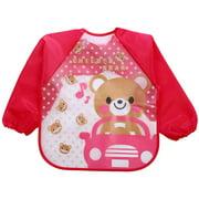 Cartoon Baby EVA Bib Long Sleeve Meal Apron Kids Burp Cloths