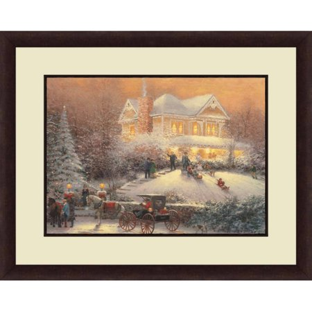 Thomas Kinkade,Victorian Christmas II, 20x16 Decorative Wall Art ()