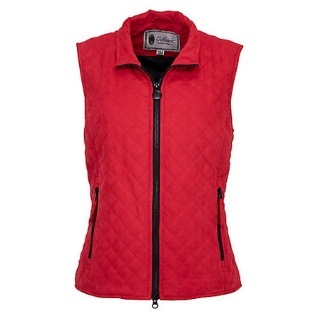 Outback Trading Grand Prix Quilted Vest L Red Outback Canvas Vest