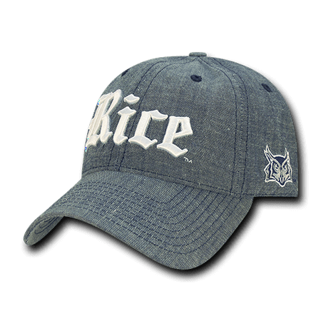 NCAA Rice Owls University Curved Bill 6 Panel Cotton Relaxed Denim Caps Hats