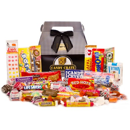 Candy Crate Inc. 1940's Father's Day Retro Candy Gift Box, 40 oz