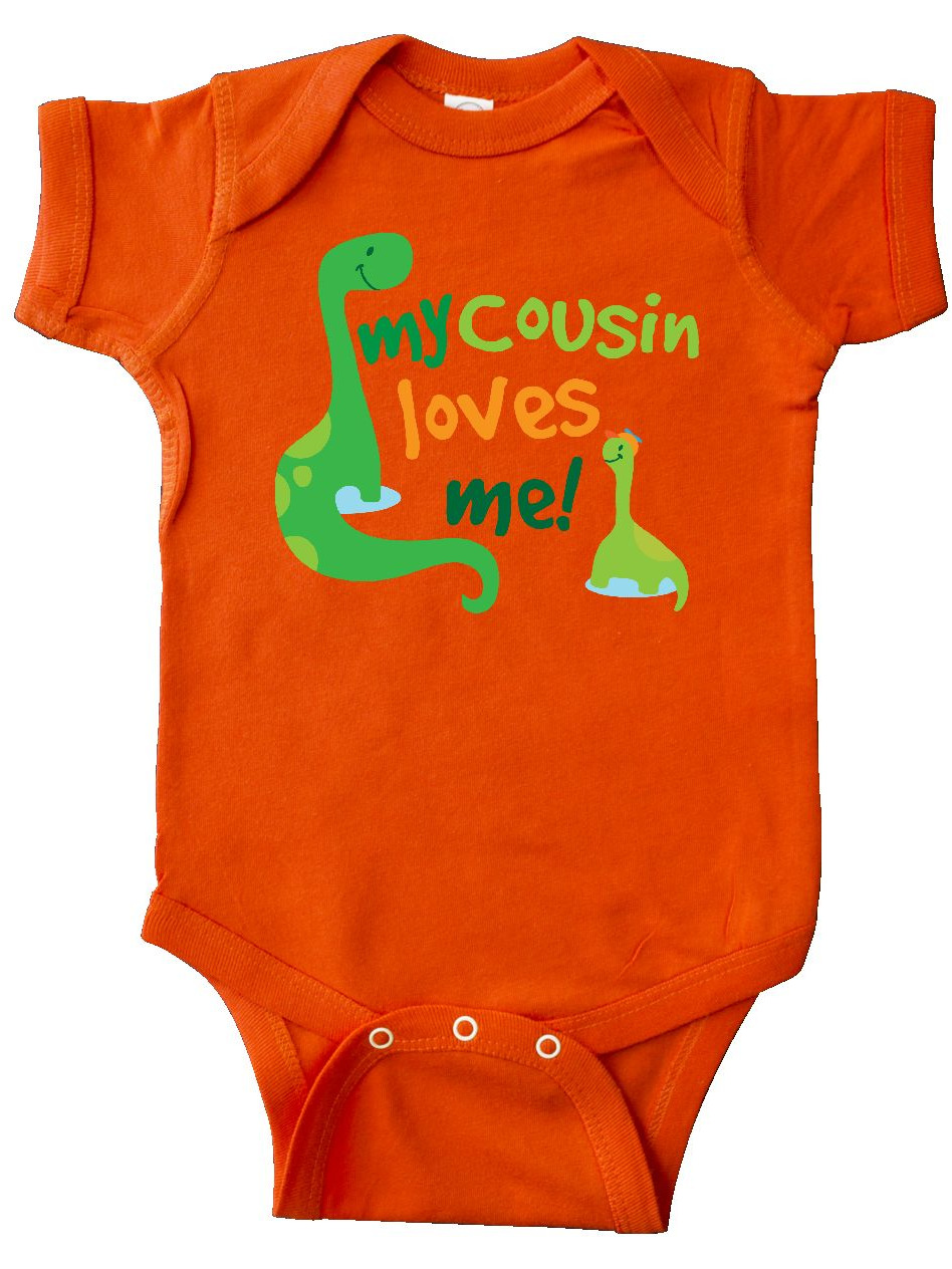 inktastic My Cousin Loves Me Outfit Long Sleeve Creeper