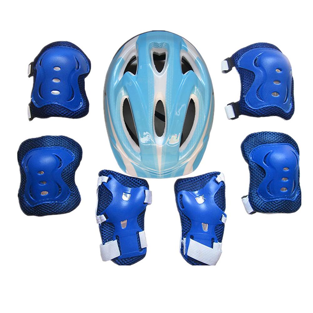 7PCS//SET BOYS /& GIRLS KIDS SKATE CYCLING BIKE SAFETY HELMET KNEE ELBOW PAD