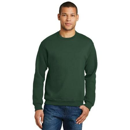 Jerzees 562M Mens Nublend Crewneck Sweatshirt  44  Forest Green   Small