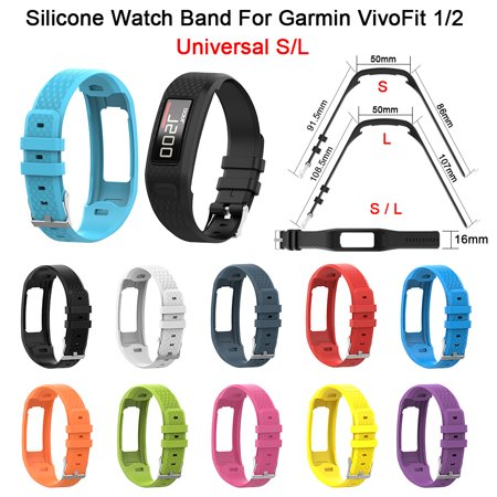 For Garmin VivoFit 1 Generation 2 Generation Universal Watch Band, Silicone Replacement Wrist Strap - S/L