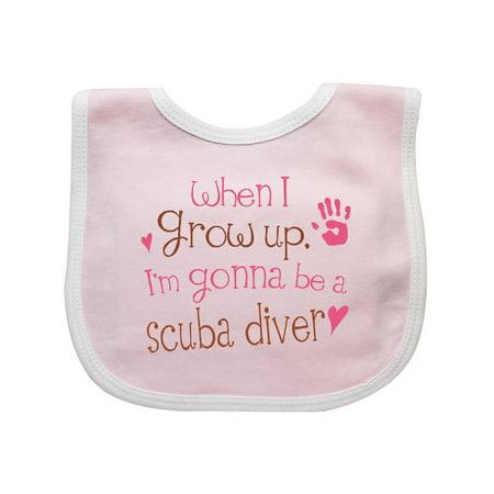 Scuba Diver Future Baby Bib