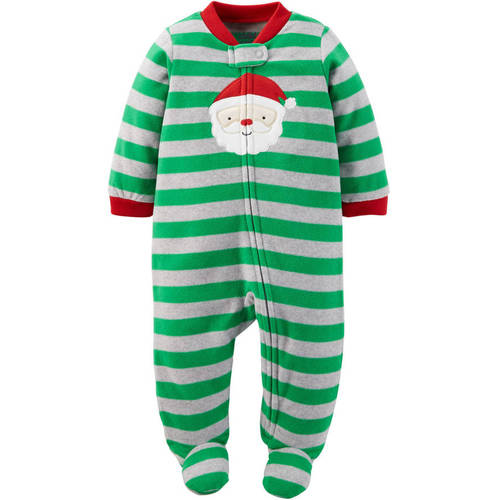 New Baby Boy Sleeper Outfit Size 0-3 Months Christmas Clothes Santa Claus Carter