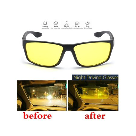 Asewin Man Woman Night Driving Glasses Anti Glaring Vision Driver Safety Sunglasses UV 400 Eye Protecting Glasses (Sunglasses Male)