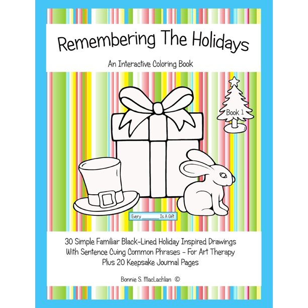 Remembering The Holidays Book 1 Dementia Alzheimer S Seniors Interactive Holiday Coloring Book Walmart Com Walmart Com