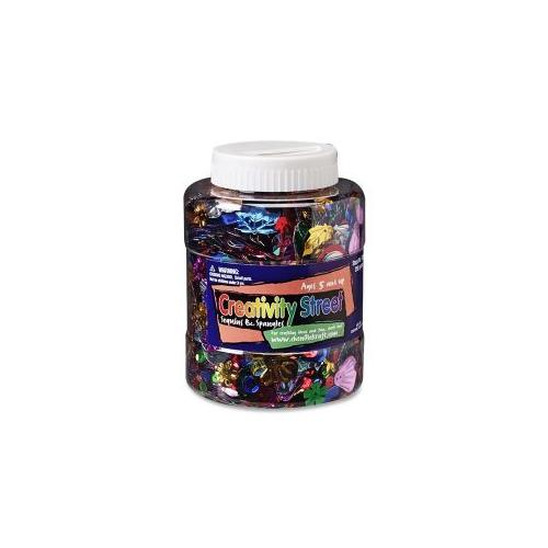 CHENILLE KRAFT COMPANY Twist Top Shaker Jar f/Sequins and Spangles, 8.8 Oz., Ast