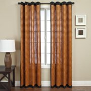 Softline  Evergreen Brown Bamboo Curtain Panel (Single Panel)