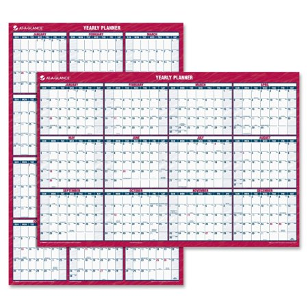 At- A-Glance AAGPM32628 32 x 48 in. Vertical, Horizontal Erasable Wall Planner