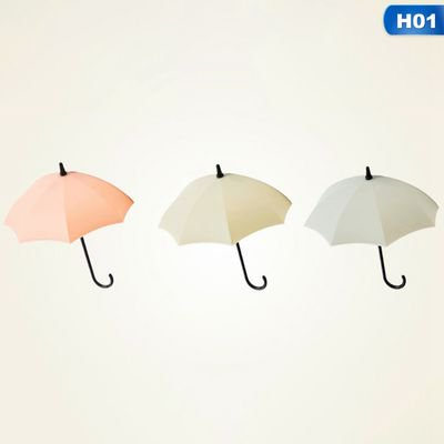 Michellem 3pcs Umbrella Wall Hook Key Holder Adhesive Small Hanger Kitchen Bathroom ()