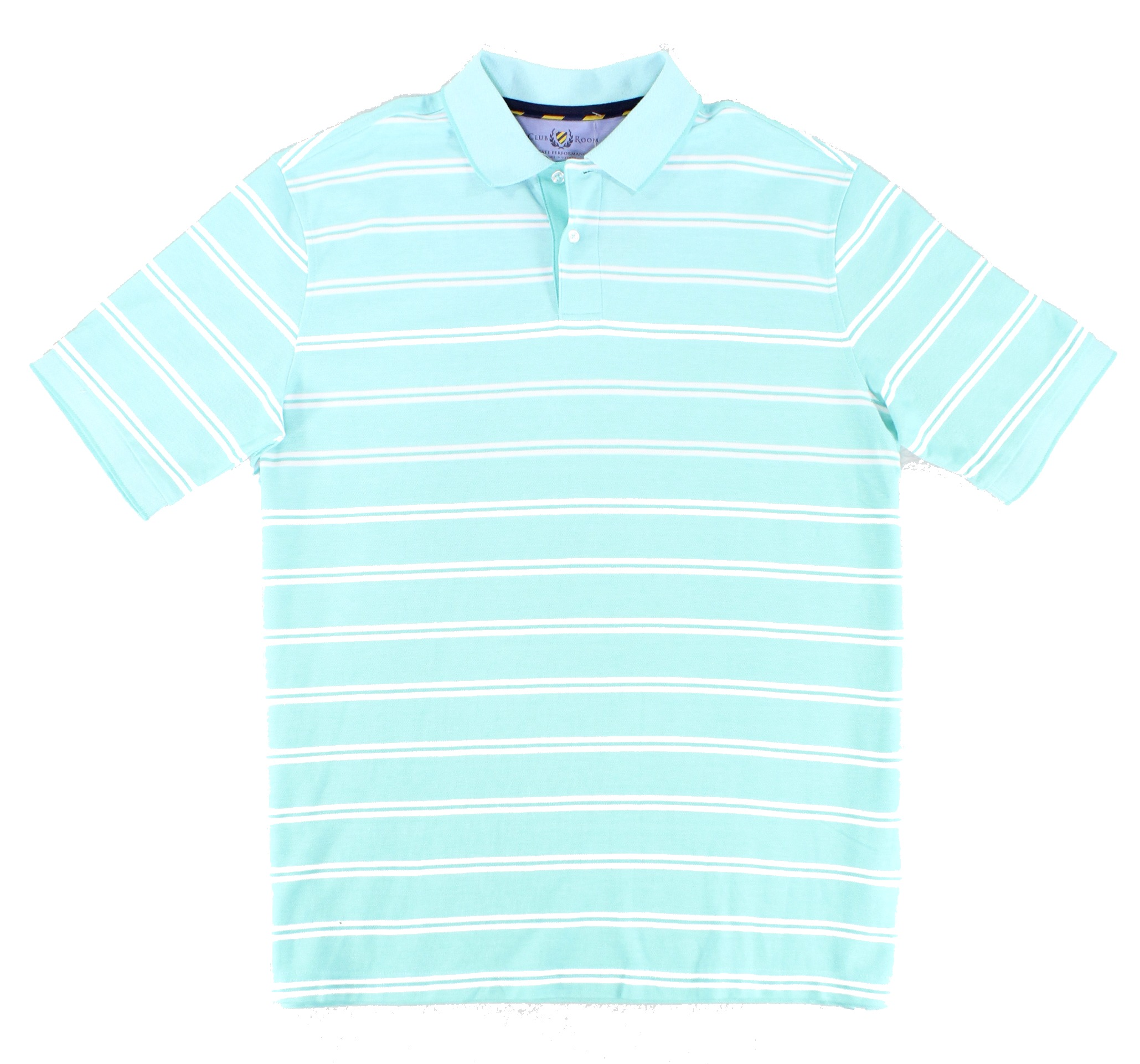 Club Room New Green Menthol Mint Mens Size Lt Striped Polo Rugby