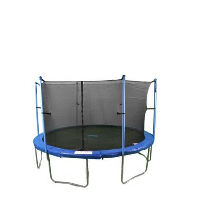 Upper Bounce 14 Ft Trampoline & Enclosure Set equipped ...
