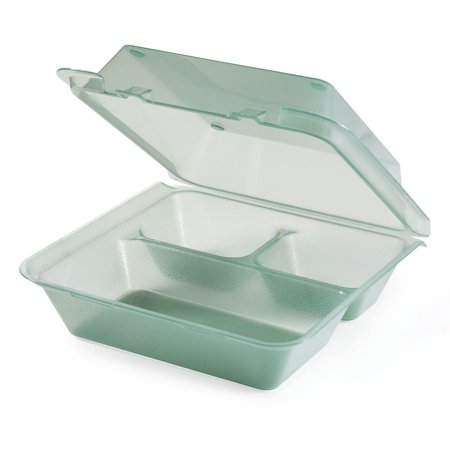 9 Inch Single Compartment Plastic Container - G.E.T. 3 Compartment Jade Polypropylene Eco-Takeout Container - 9