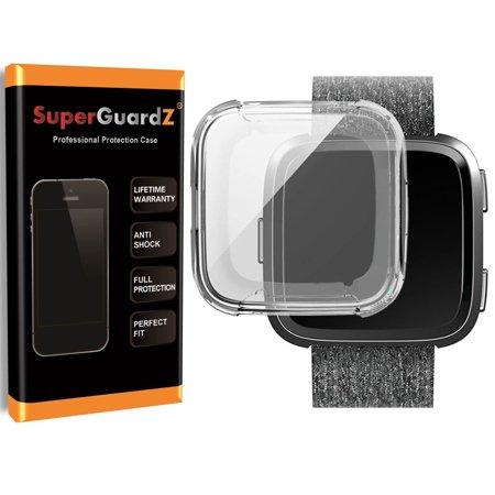Cell Guard Antioxidant - [2-Pack] For Fitbit Versa Case, SuperGuardZ Slim Heavy-Duty Shockproof Protection  Armor Shield Guard