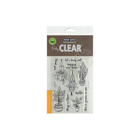 Hero Arts Clear Stamp Hang In There Pot Plants ()