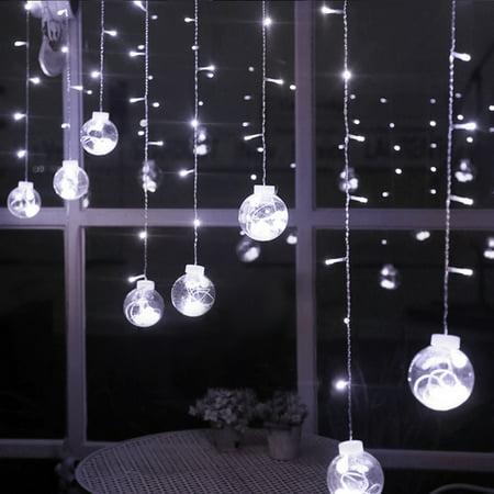 Agptek 120led 9 84ft Linkable Window Ball Curtain Light