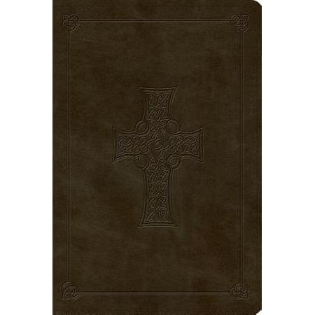ESV Large Print Bible (Trutone, Olive, Celtic Cross Design) ()