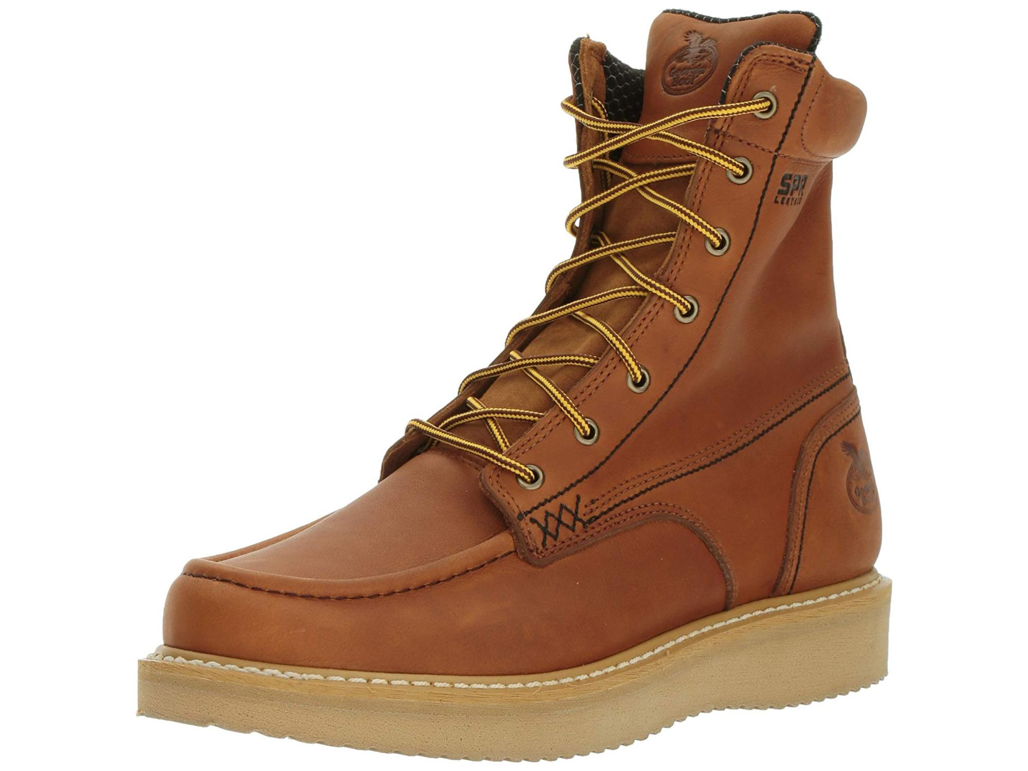 "Men's Georgia Boot GB00179 8"" Moc-Toe Wedge Work Boot by Georgia Boot"