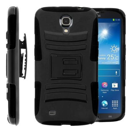 Samsung Galaxy Mega 6.3 Case, Rugged Hybrid Triple Layer Holster Shell Combo Case [Kickstand and Clip] for Galaxy Mega 6.3 - (Samsung Galaxy Mega Vs Samsung Galaxy Mega 2)