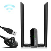 EEEKit 1200Mbps/600Mbps Mini Dual Band 2.4/5 GHz Wireless USB WiFi Adapter LAN Network Dongle 802.11ac/a/b/g/n for Laptop Desktop PC Windows XP/7/8/10,Mac OS X System