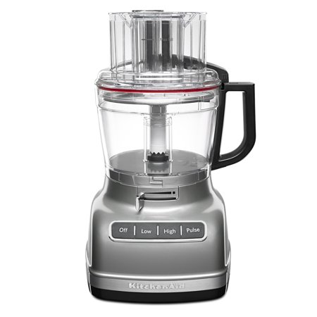 KitchenAid ® 11-Cup Food Processor with ExactSliceâ ¢ System Contour Silver (KFP1133CU)