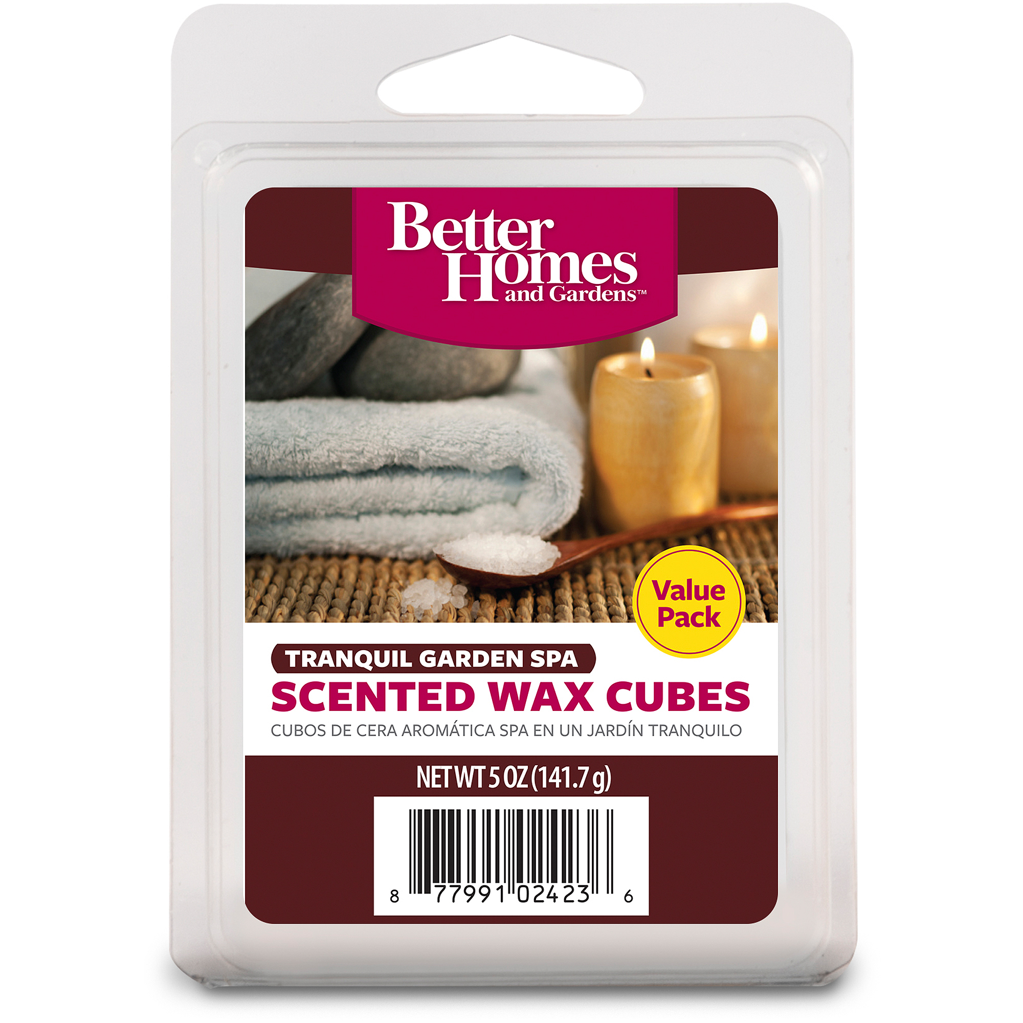 Better Homes & Gardens 5 oz Tranquil Garden Spa Value Scented Wax Melts