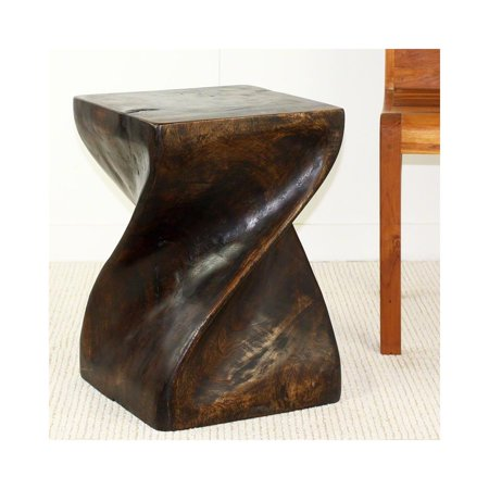 Mocha Twist (Haussmann Big Twist Stool 14 In Sq X 20 In H Mocha)