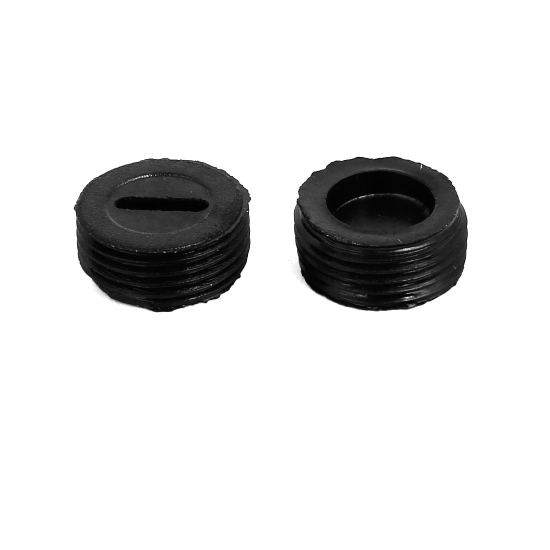 5pcs 13mm OD Male Thread Plastic Motor Carbon Brush Holder Cap Cover Black - image 1 of 2