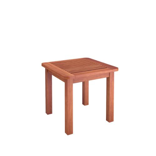 CorLiving  Miramar Cinnamon Brown Hardwood Outdoor Side Table
