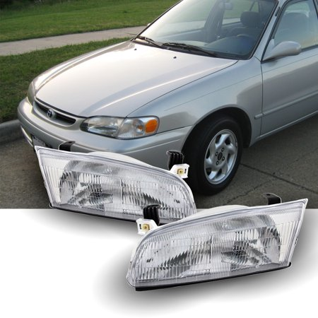 Fits 1997 1998 1999 Toyota Camry Left Right Side Headlights Front Lamps Pair